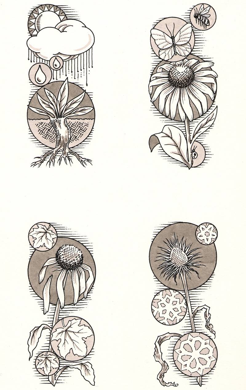 Astrologer's Garden, 4 Seasons spots