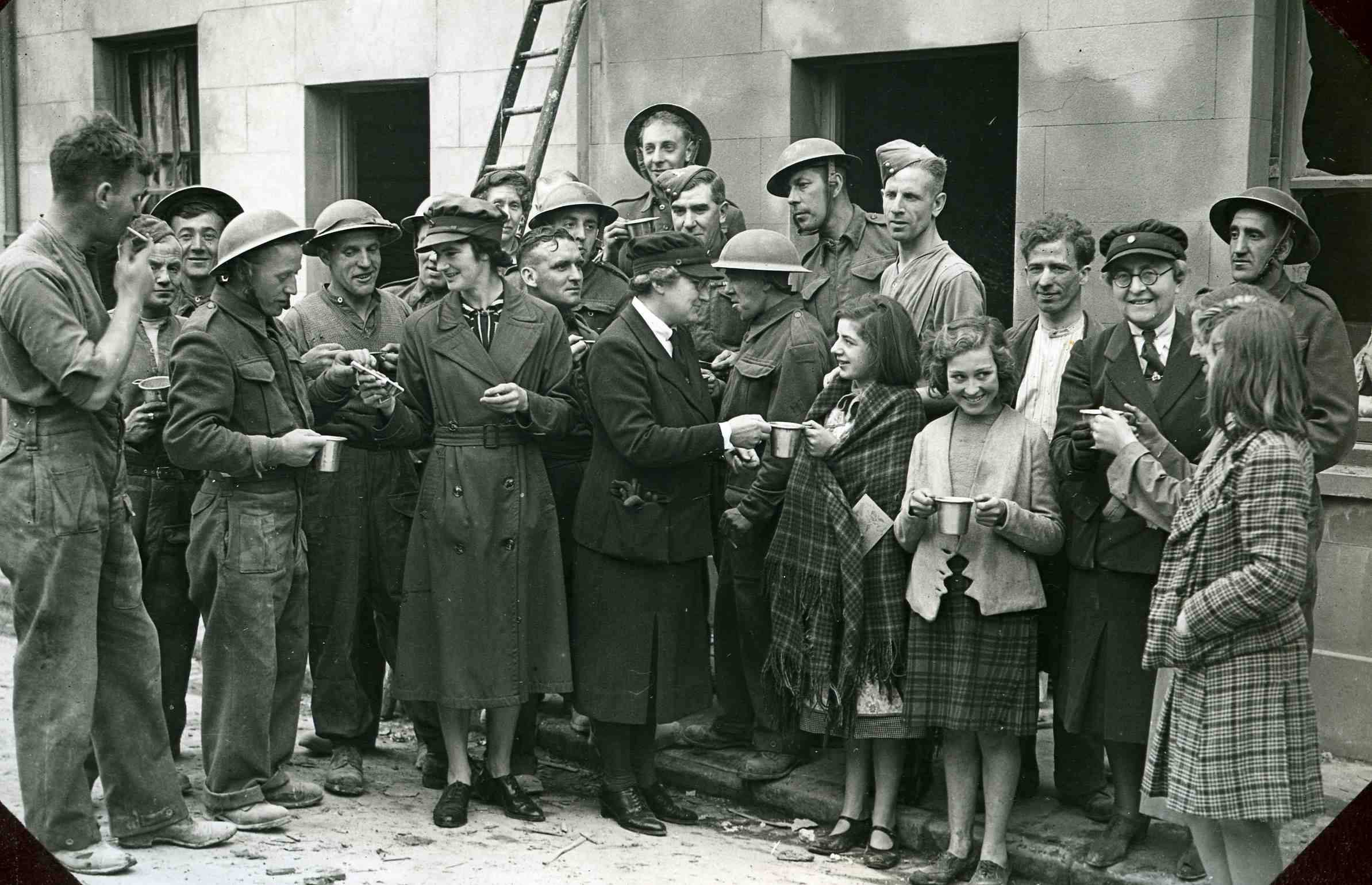 WA helpers in Brunswick Street after the bombing raids of December 1940