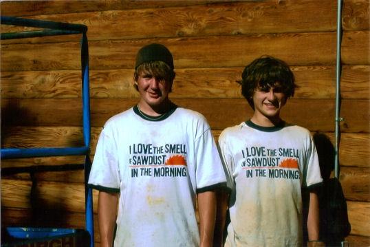 Grandson Kyle & his friend Eric