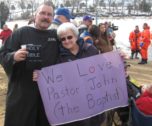 Pastor John a big fan Nellie Hogan