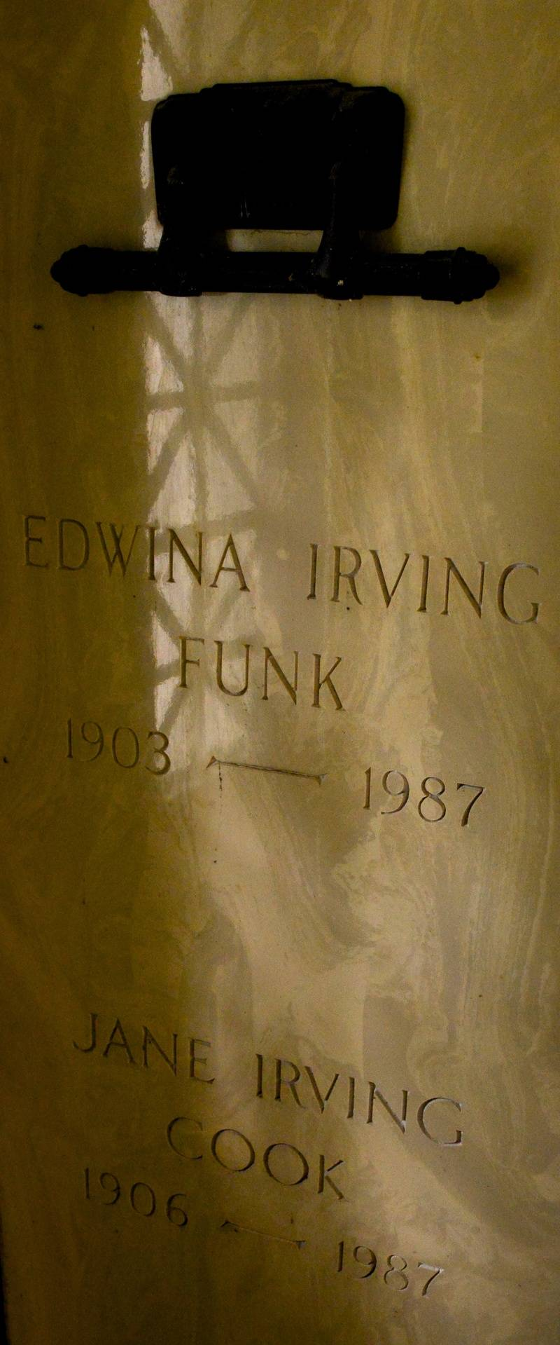 Edwina Irving Funk and Jane Irving Cook - Daughters