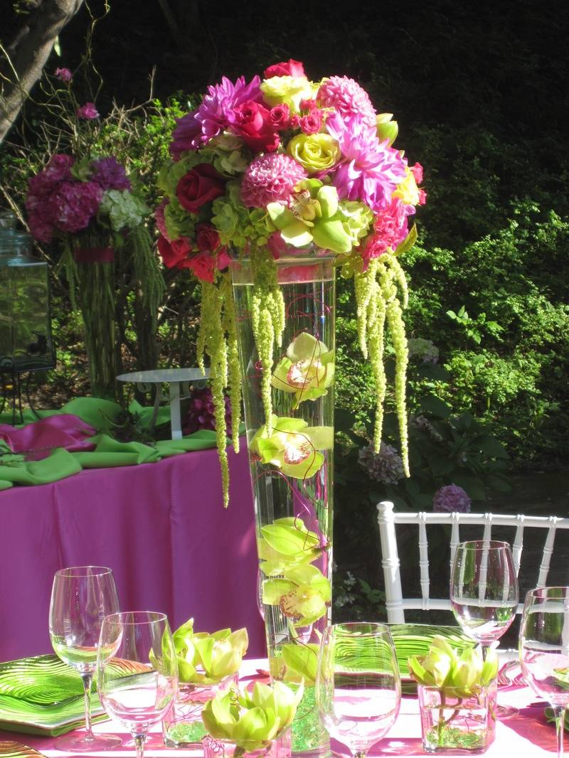 Bright Pinks & Greens Suspended