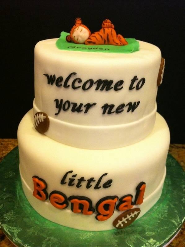 Bengals Baby Shower cake
