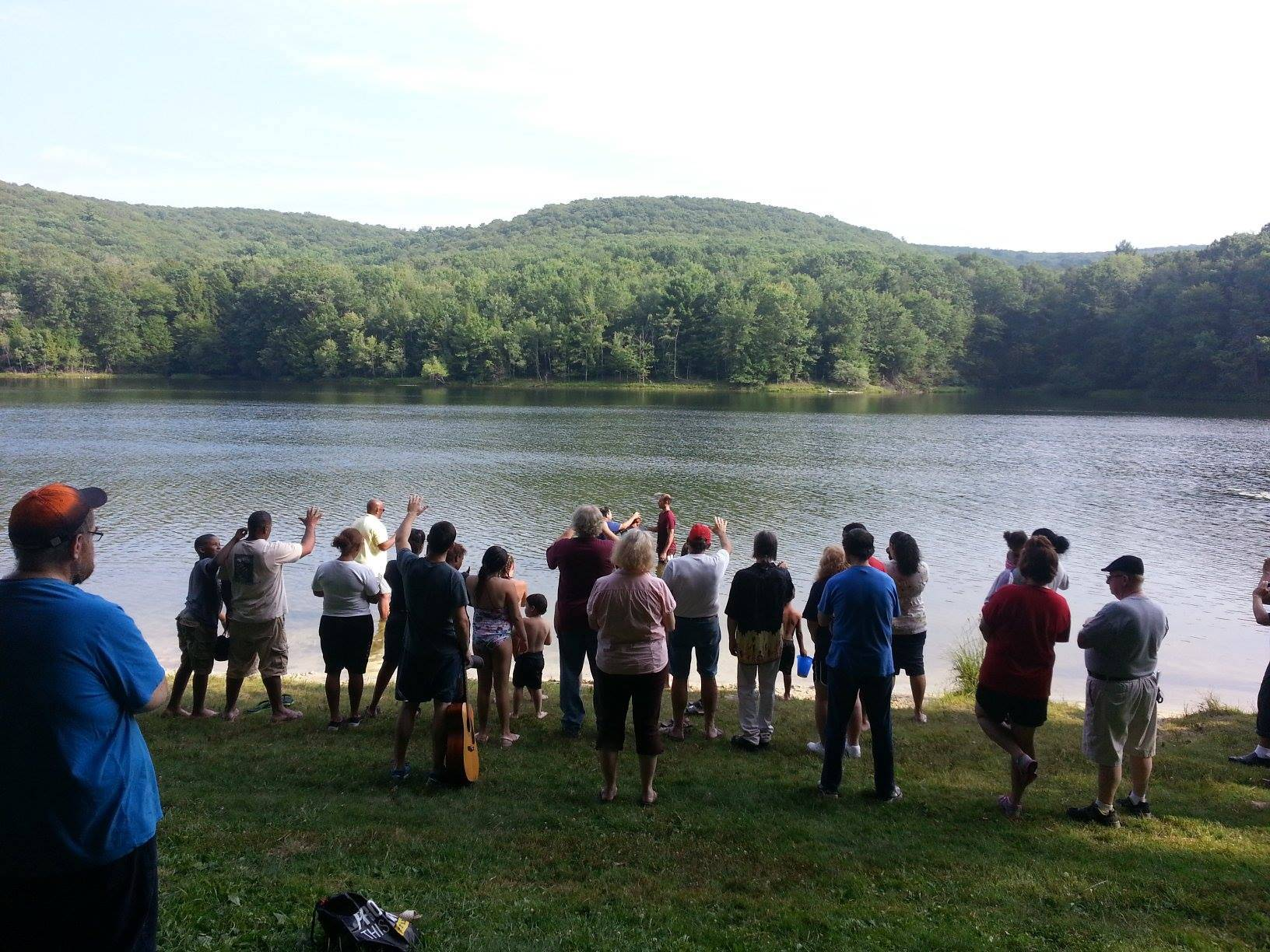 Baptism at Tuscarora State Park summer 2014