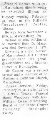 Garner, Frank 1980