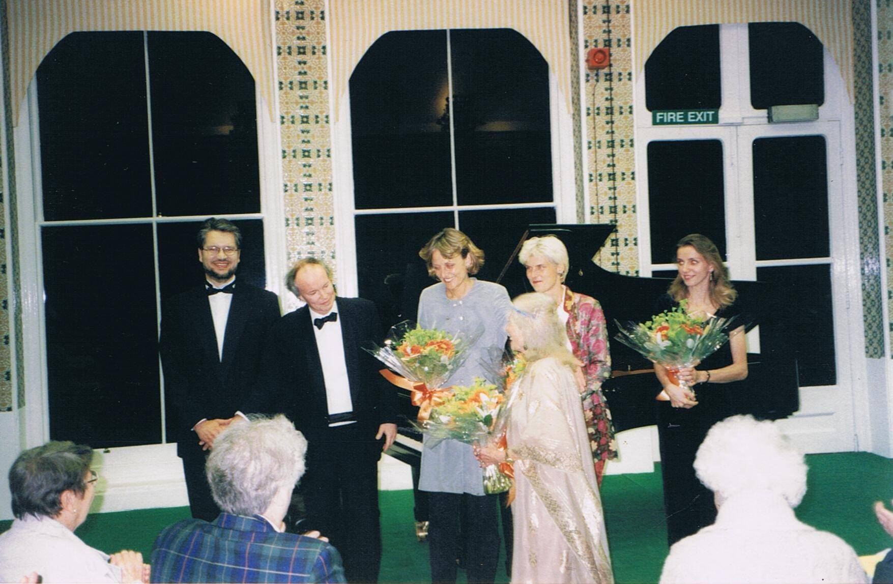 With Yalta Menuhin at Orwell Park School, Suffolk, UK, 1998