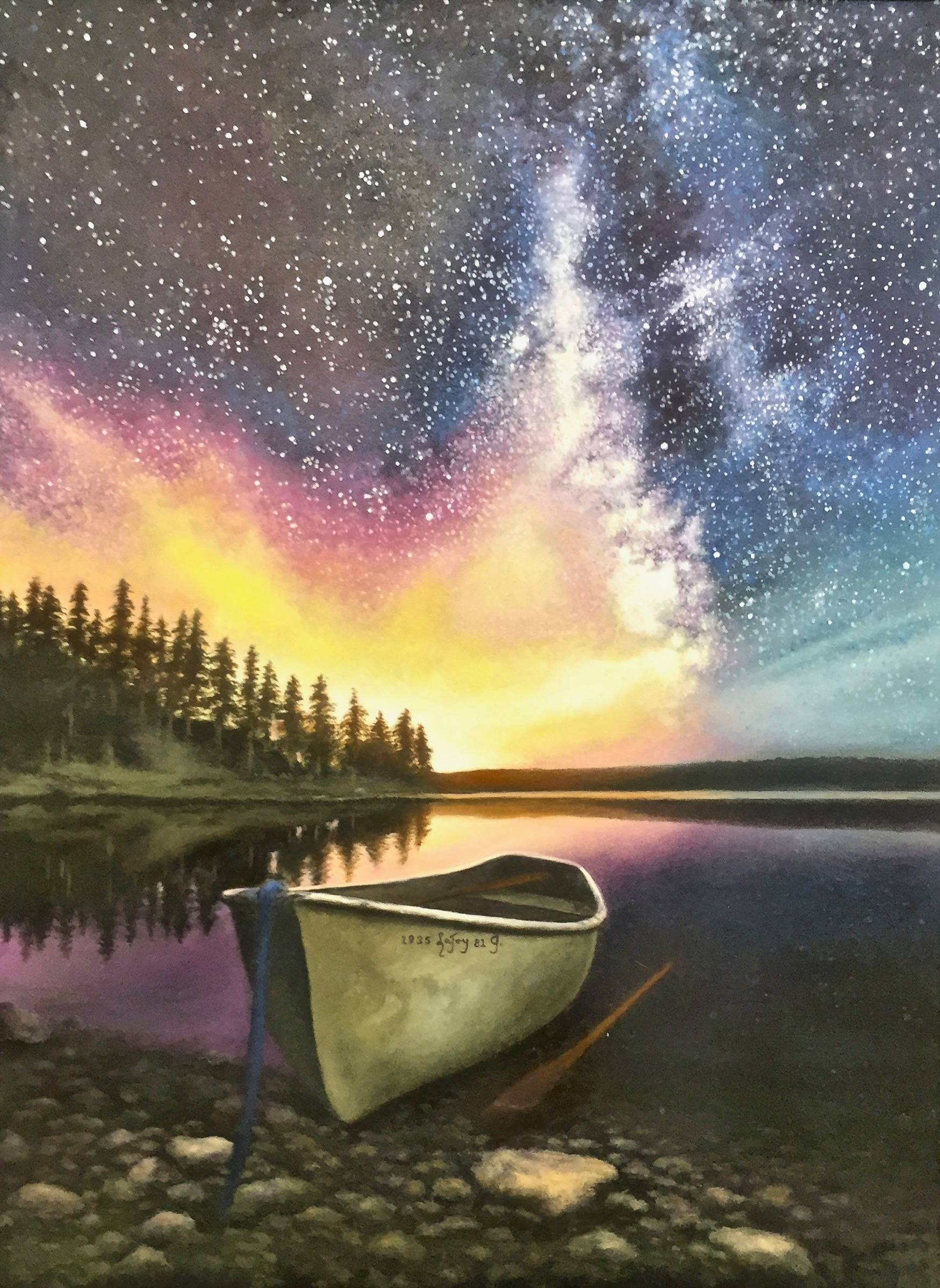 Aurora Borealis Galaxy