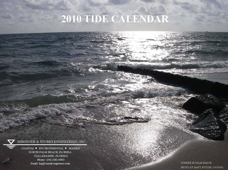 2010 Tide Calendar Cover