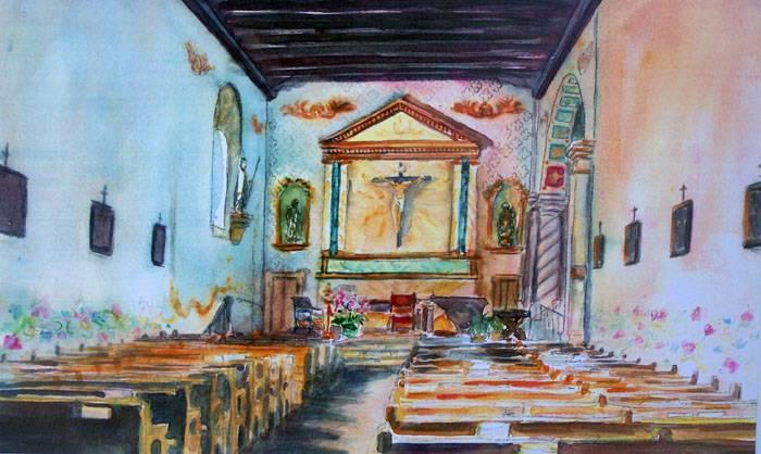 San Luis Obispo Mission Interior