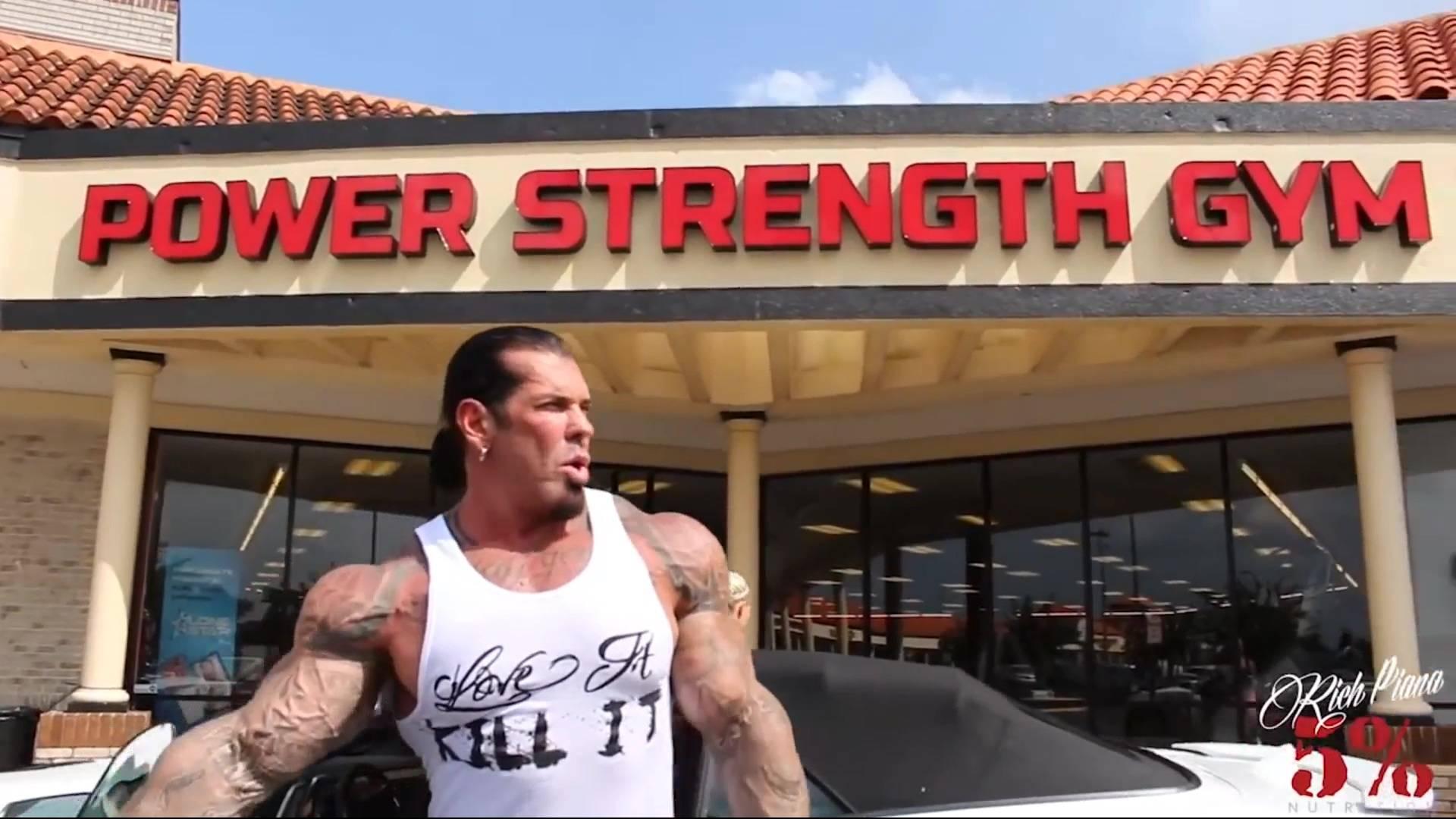 Rich Piana in Power Strength Gym