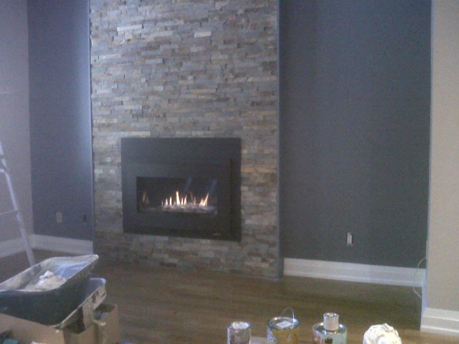 Wall unit fireplace