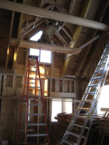 Interior electrical in rafters