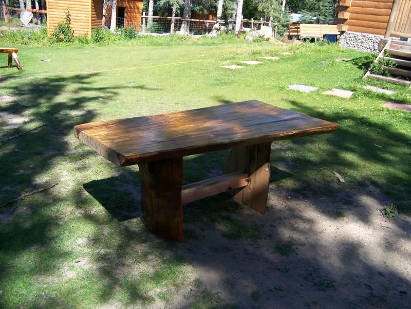 Douglas Fir Table made from single plank