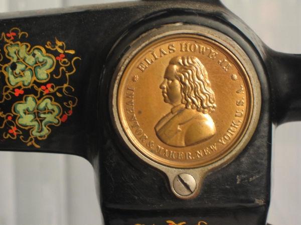 Detail of Howe Sewing Machine
