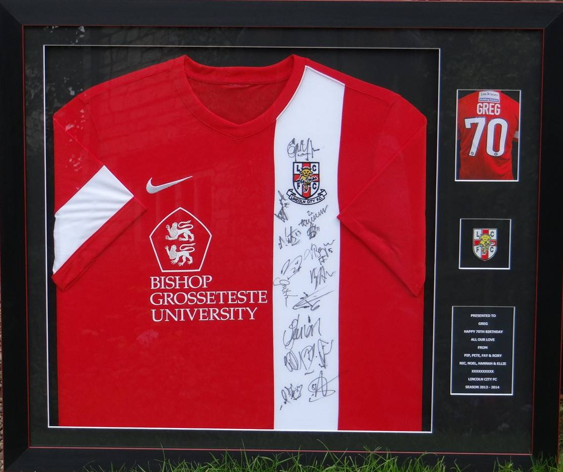 Lincoln City signed shirt.