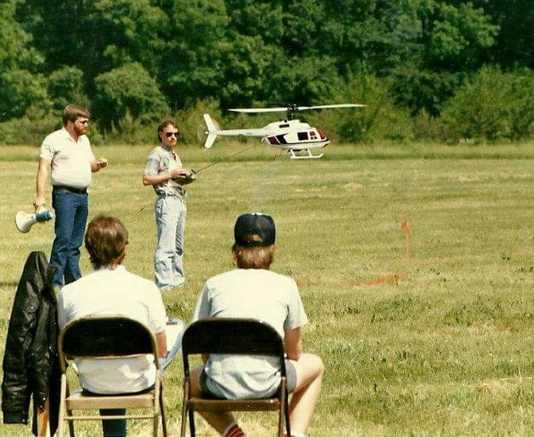 Robert Gorham flies the GMP Jet Ranger at NATS in the 80's