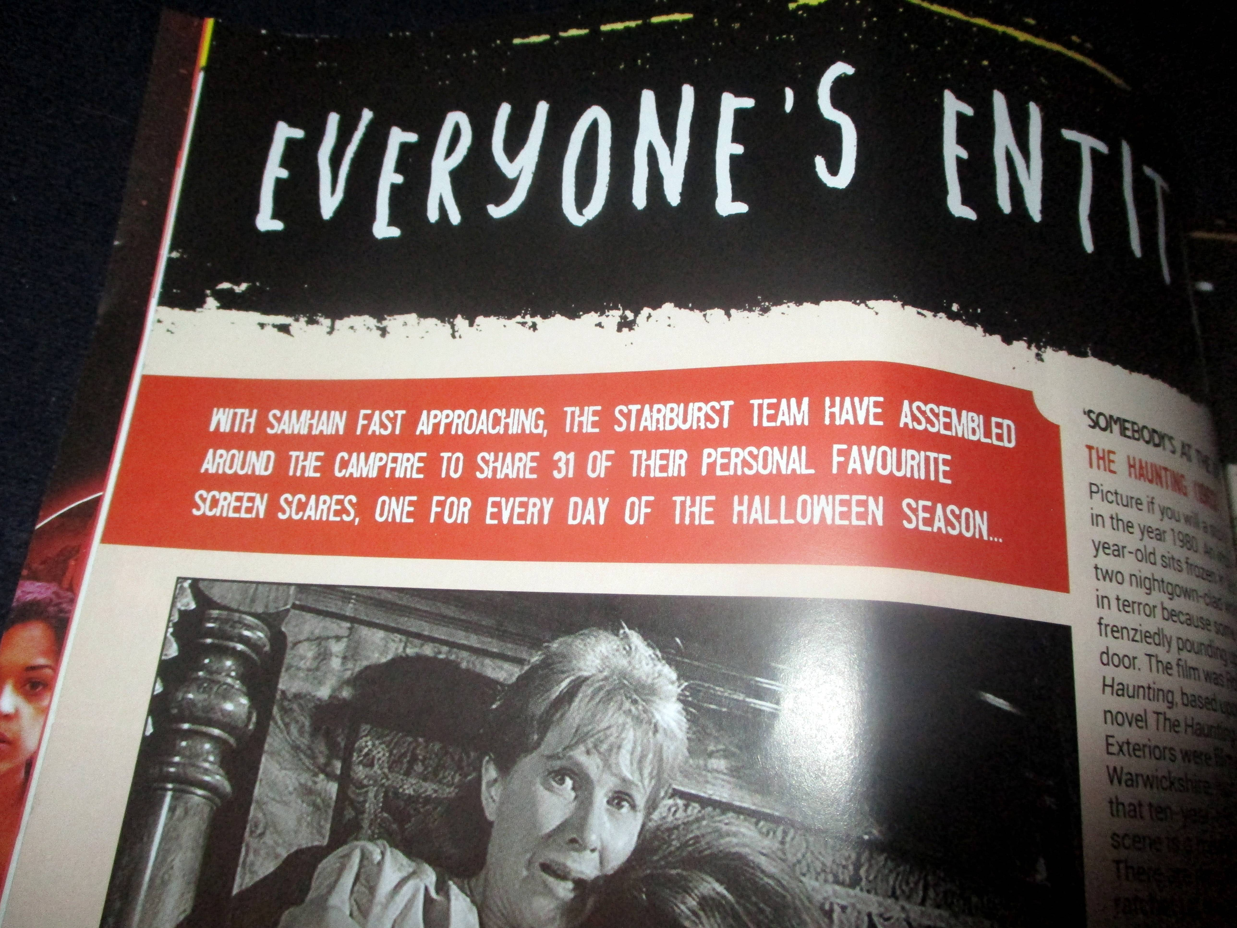 Opening Blurb of Everyone's Entitled to One Good Scare in Starburst Magazine #474: Everyone's Entitled to One Good Scare Collectors' Edition at The Wombatorium 2.0: A Capital Idea