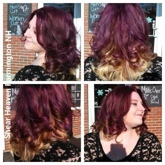 After Ombre Purple