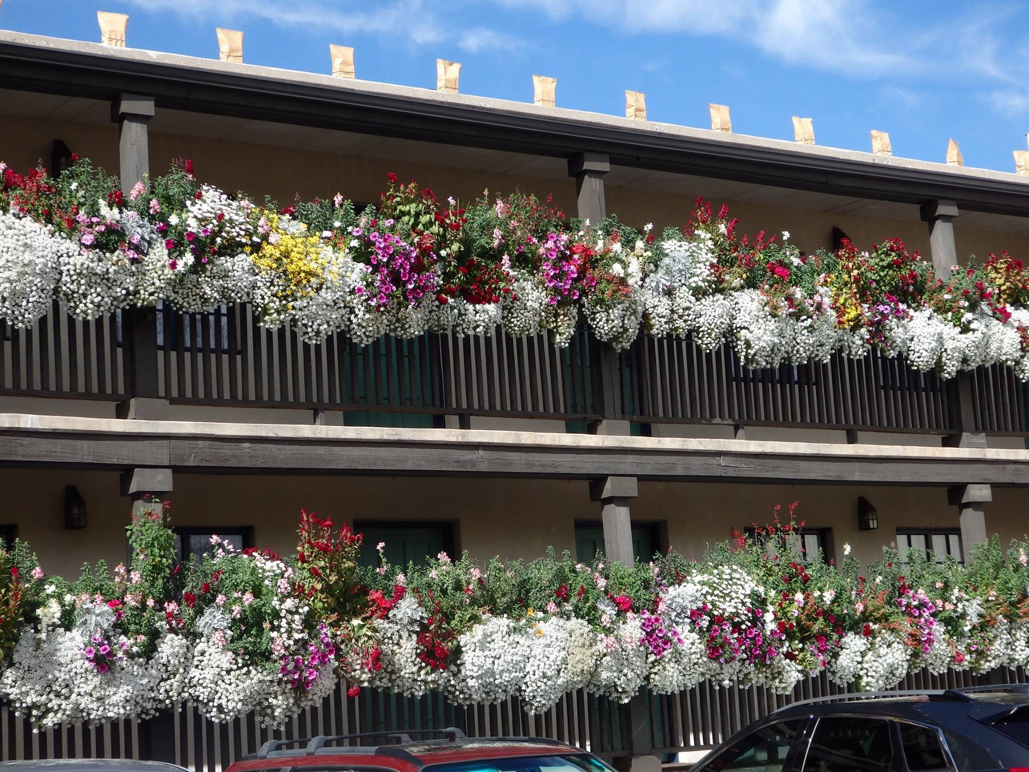 Flowers adorning Inn of the Governors