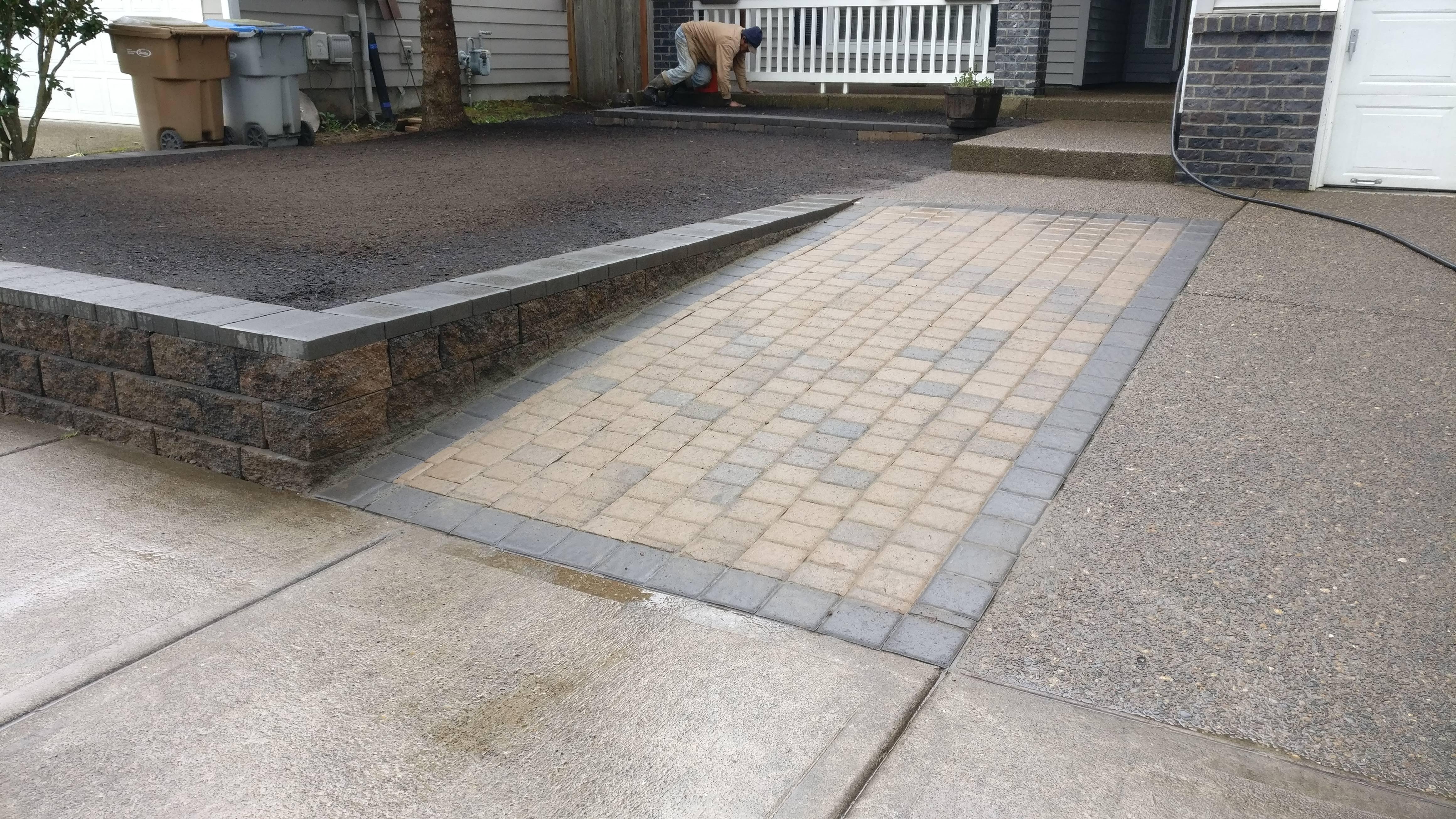 Brick Driveway in Banks Oregon