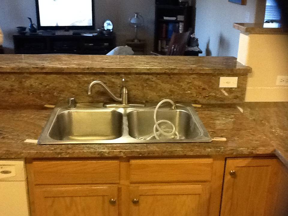 TOP Mount Stainless Steel 50/50 sink