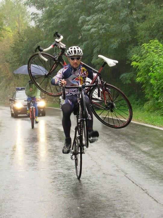 altijd een reserve fiets meenemen...