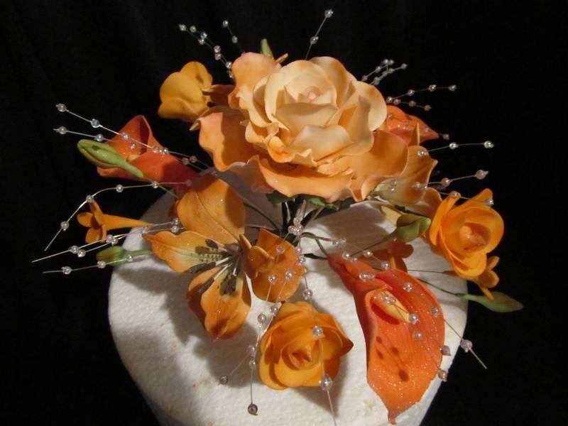 Rose/Calla topper