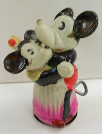 Mickey Mouse & Minnie Mouse Celluloid Dancing Toy