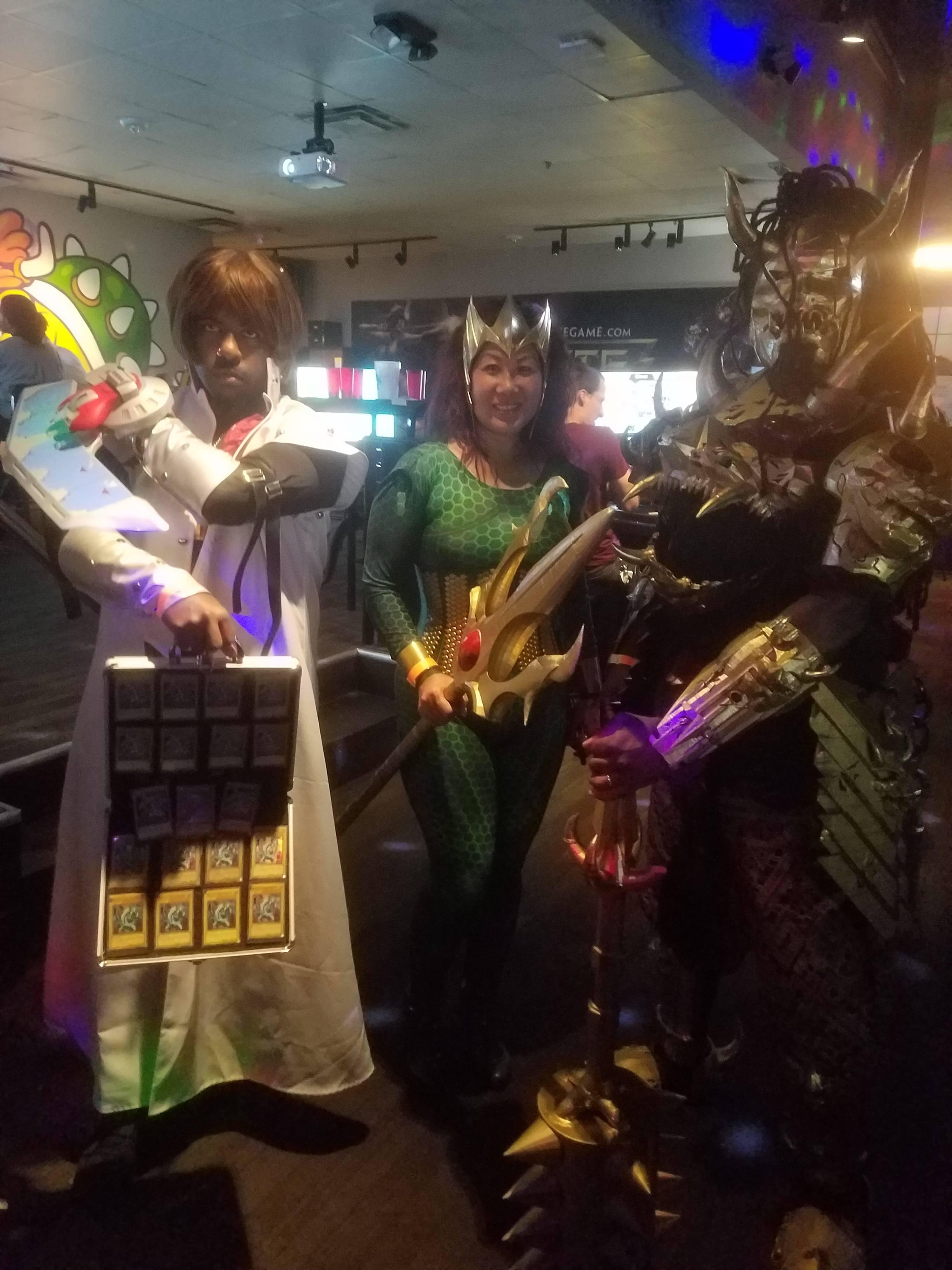 Seto Kaiba, Mera, and Unknown Dragon Samurai