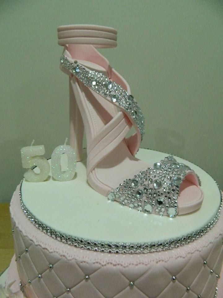 Shoe on cake board