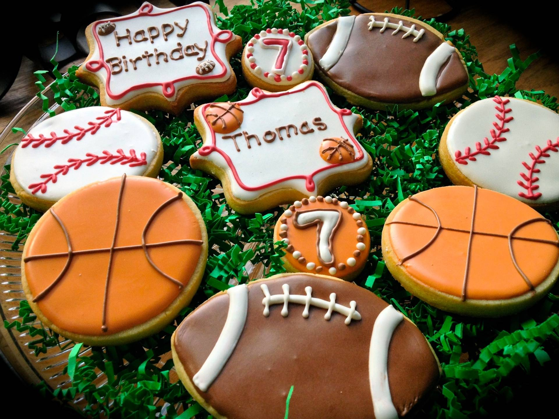 Birthday Cookies Sports Theme