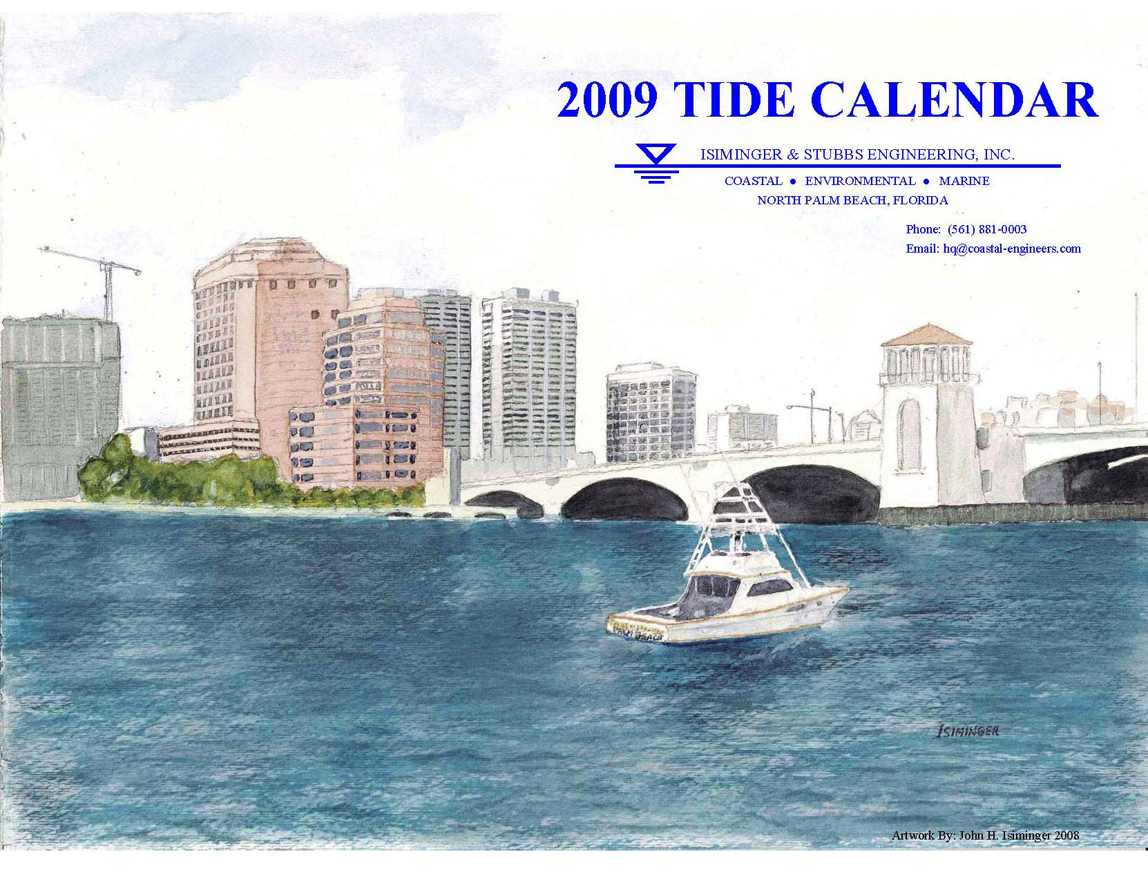 2009 Tide Calendar Cover