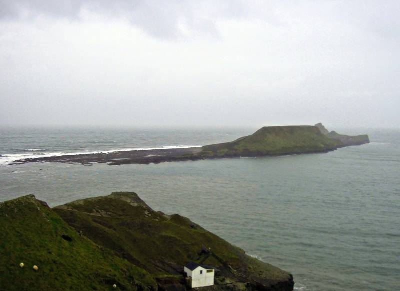 The Worm's Head - looks like a dragon swimming out to sea