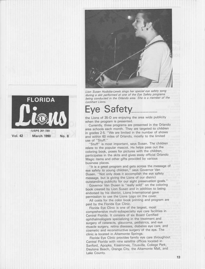 1990 ESFK Florida Lions Article Page 2/2