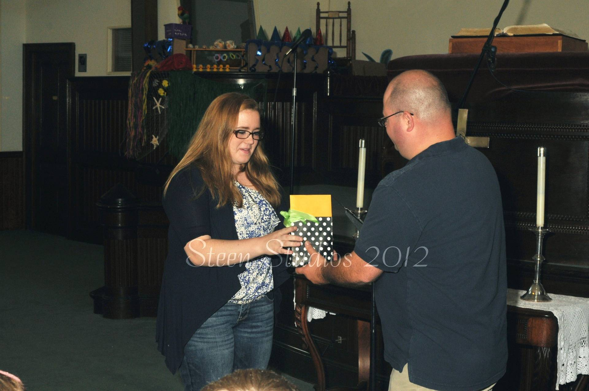 Brittany receives her Senior Award
