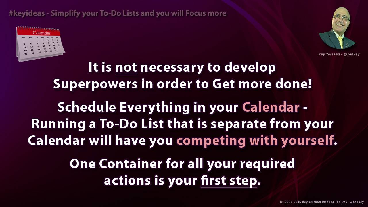 Simplify your To-Do Lists and you will Focus more