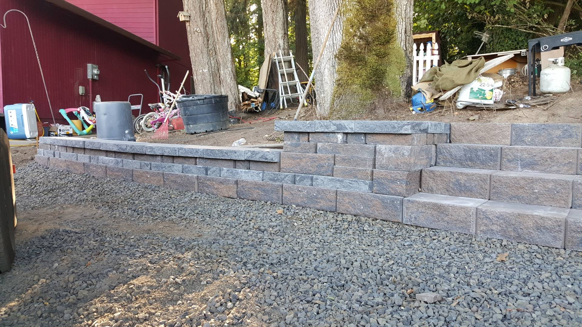 Retaining Wall Steps Hillsboro OR