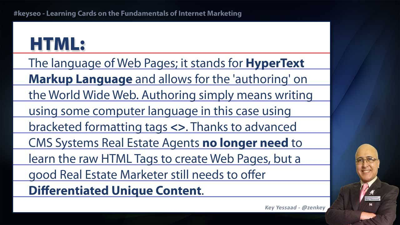 HTML - Real Estate SEO Short Definition