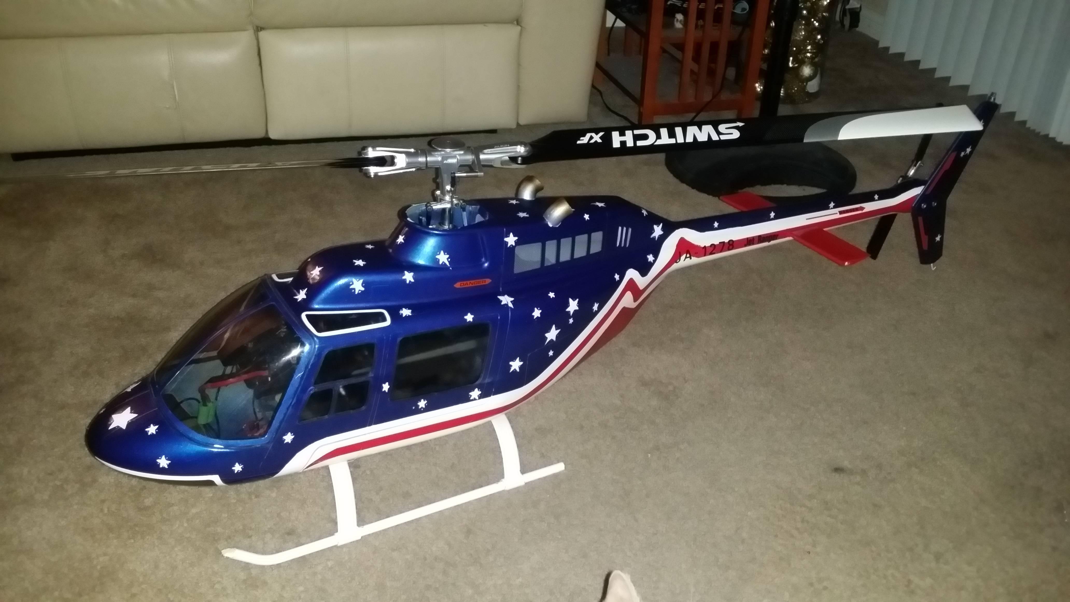 Just finished Bell 206 Jet Ranger Align 700E