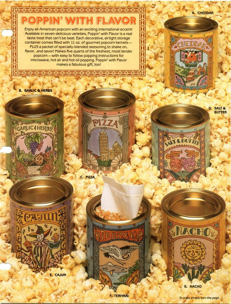 Popcorn can labels