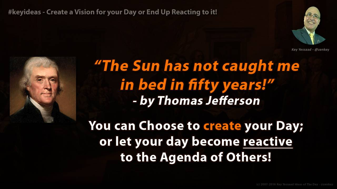 Create a Vision for your Day or End Up Reacting to it!