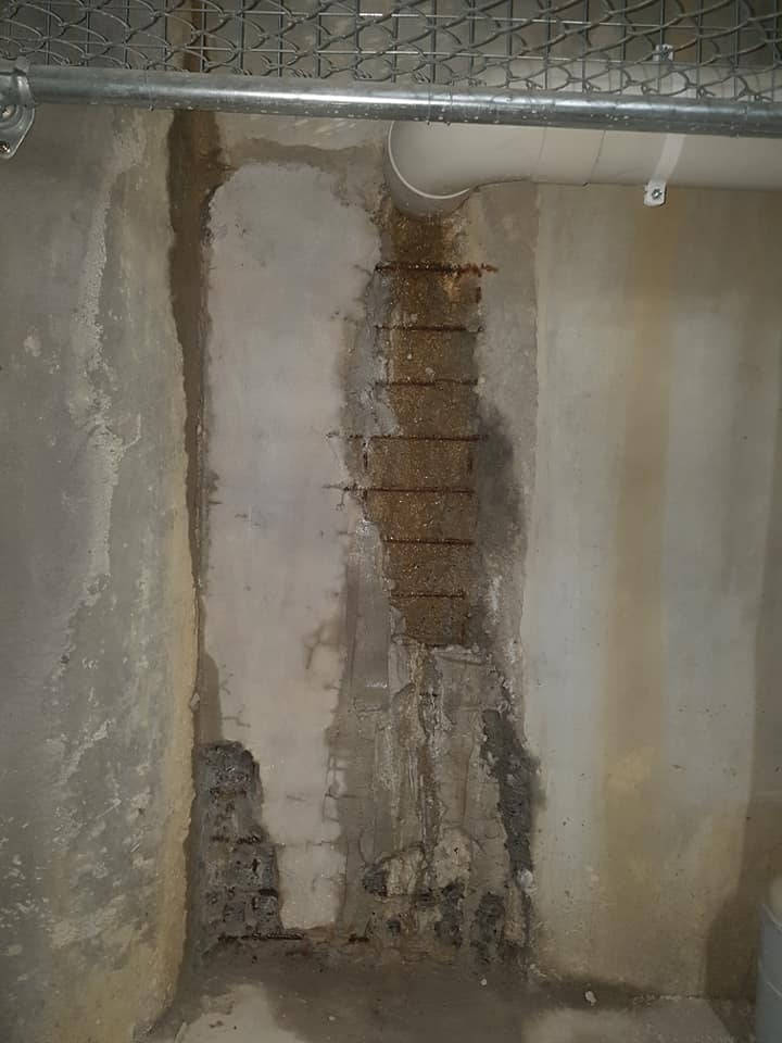 Polyurethane injection, Concrete repair with water ingress and penetration seal