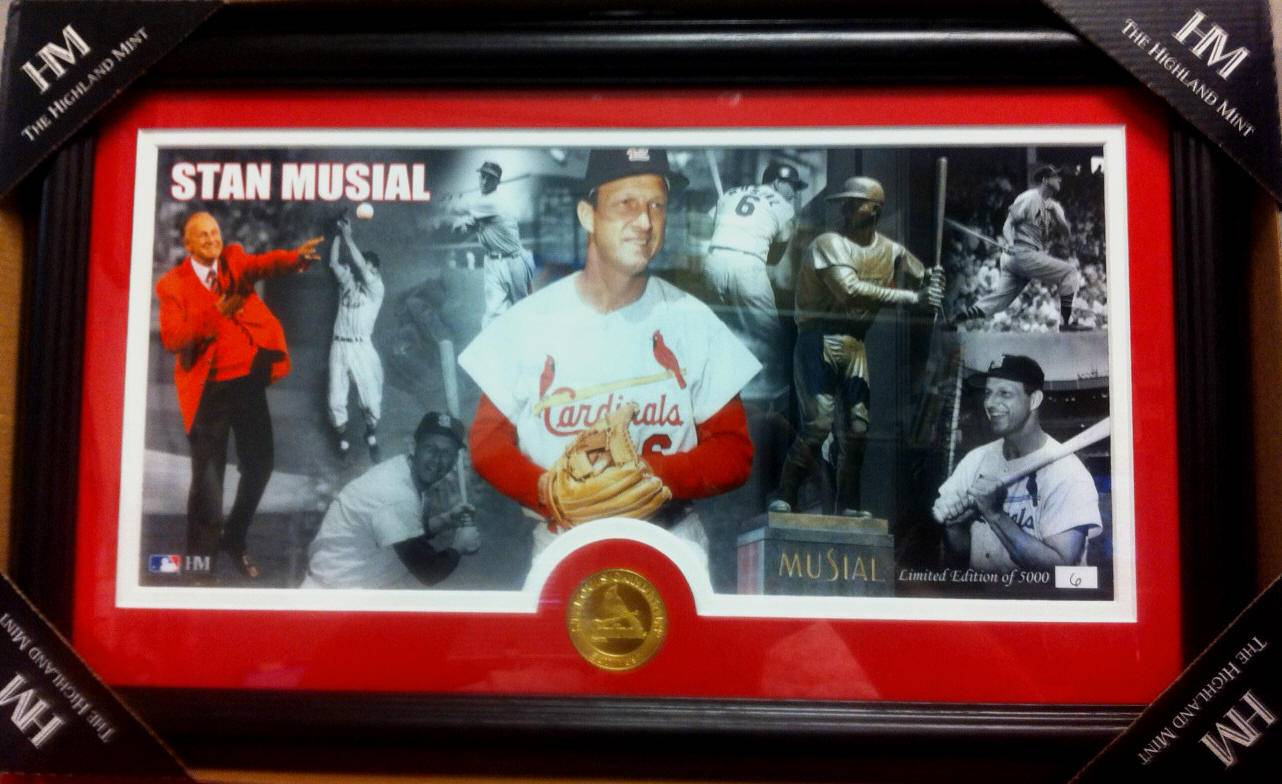 STAN 'THE MAN' MUSIAL HIGHLAND MINT PHOTO MINT PANORAMIC LTD. 6/2500 1/1