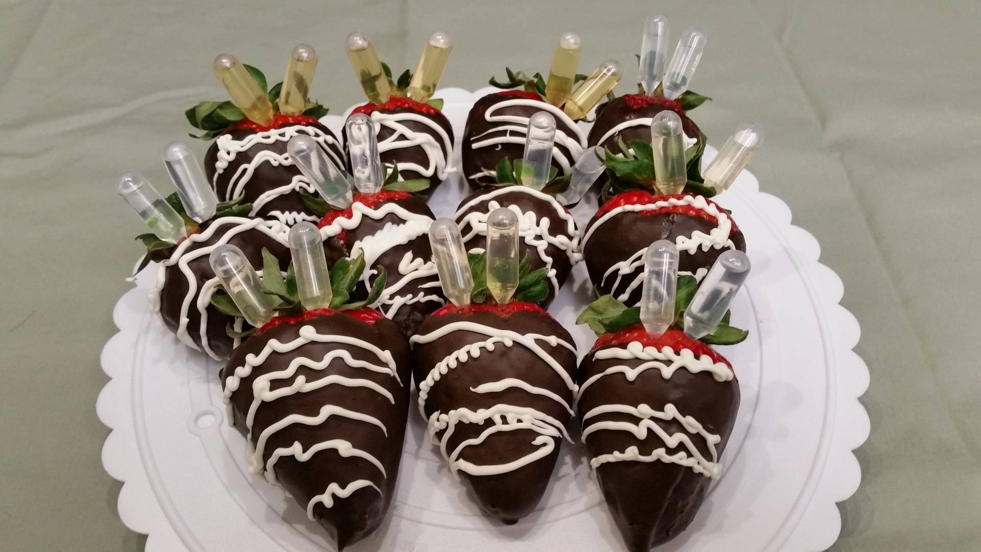 Alcohol Infused Chocolate Covered Strawberries