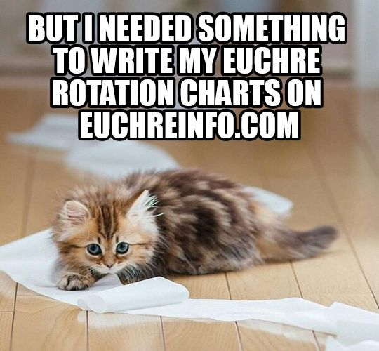 But I needed something to write my Euchre rotation charts on.