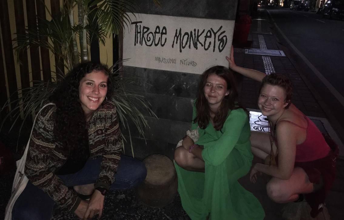 """Good bye Ubud"" from our Three Monkeys team (Ubud Monkey Forest, Bali, August 2019)"