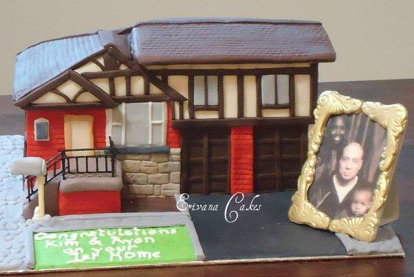 Housewarming Cake with edible photo frame(SP140)
