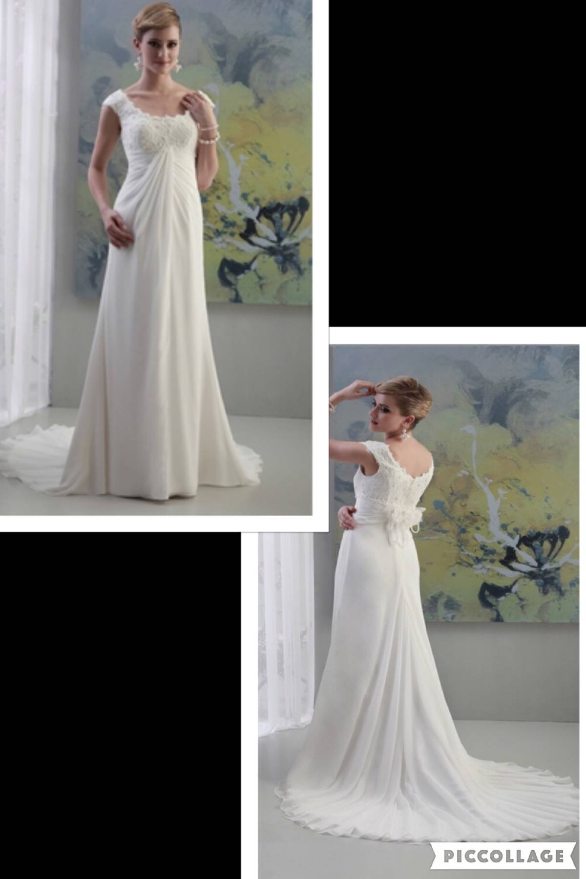 NWT PALLAS ATHENA BY VENUS LACE & CHIFFON WEDDING GOWN SIZE 10 $199.00