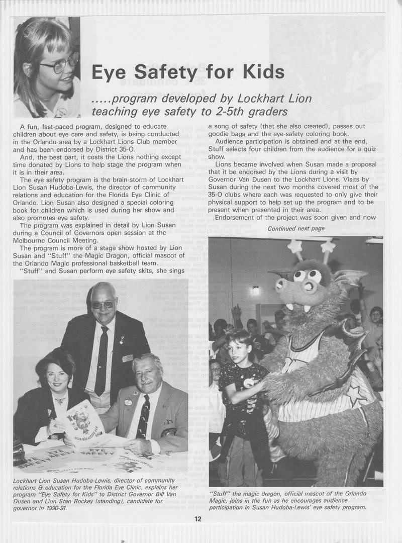 1990 ESFK Florida Lions Article Page 1/2