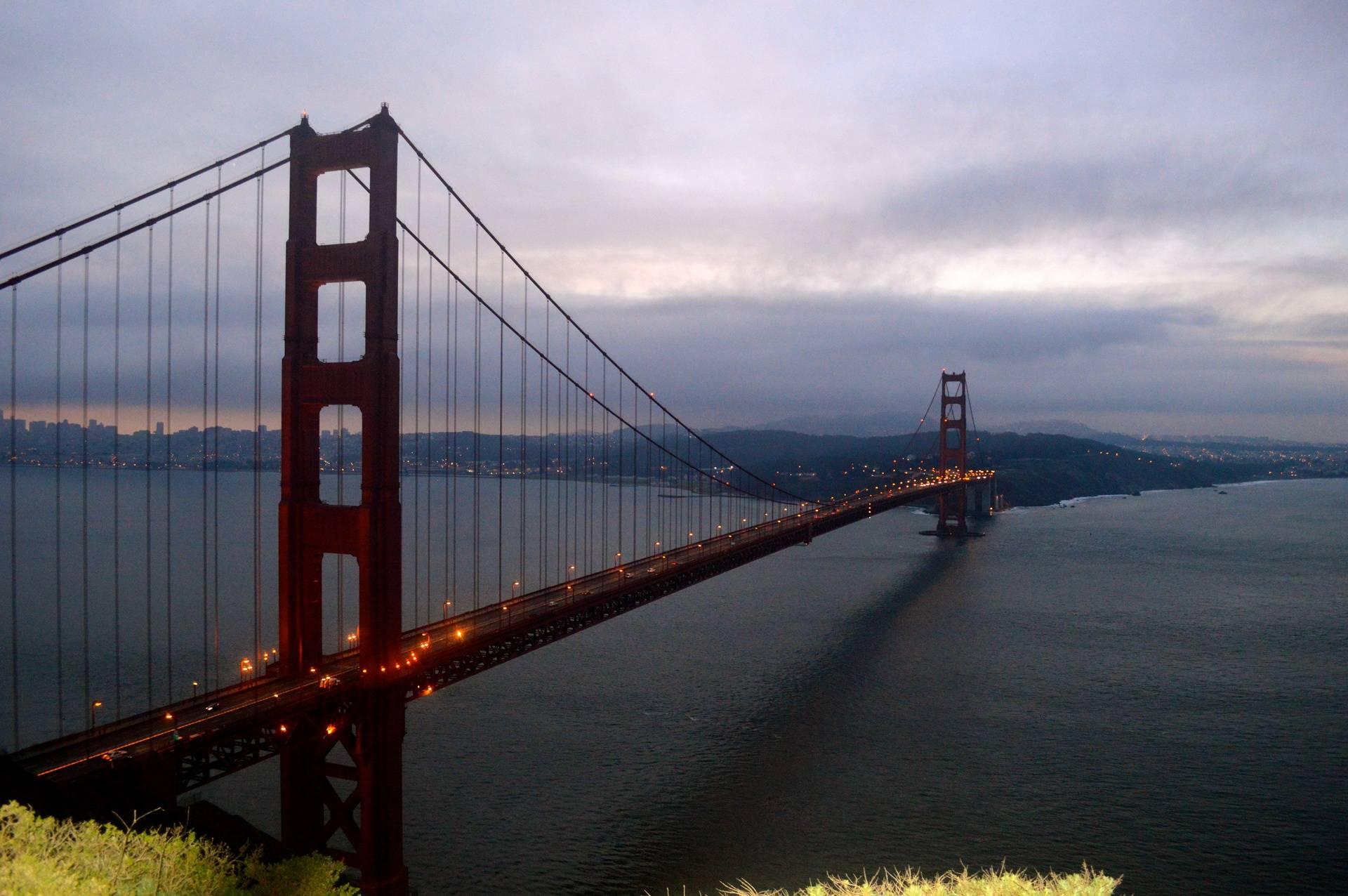 Lavender Sky over the Golden Gate